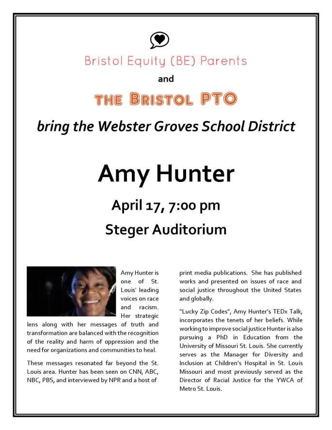 Amy Hunter flyer