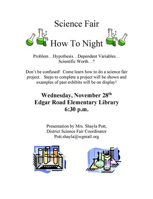 Science Fair how to flyer